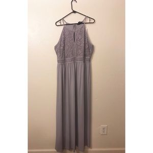 Beautiful lavender keyhole maxi dress